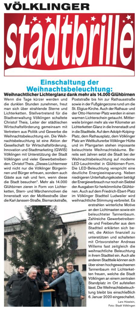 Weihnachtsmarkt in Koellerbach 2019 - Völklinger Stadtbrille Ausgabe 12/2019