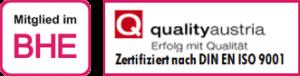 Mitglied im BHE, ISO9001:2015